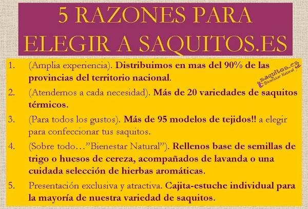 5 RAZONES PARA ELEGIR A SAQUITOS - WEB